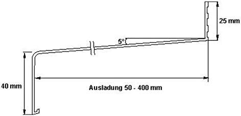 silber dunkelbronze anthrazit Aluminium Fensterbank Zuschnitt auf Ma/ß Fensterbrett Ausladung 50 mm wei/ß