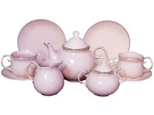 Princess Pink Pattern Childrens Tea For Two Fine China Tea Set from The Queen's Treasures