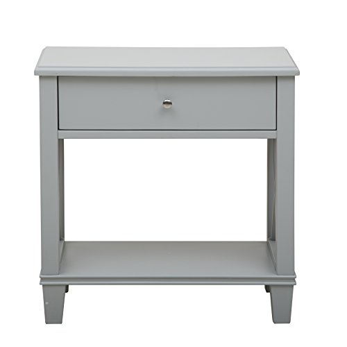 Pulaski Ds A092017 Transitional X Leg Side End Table With Grey Finish