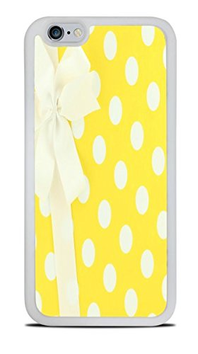 White and Yellow Polka Dots Wrapped Present With Bow White Silicone Case for iPhone 6S (4.7) by Debbie's Designs