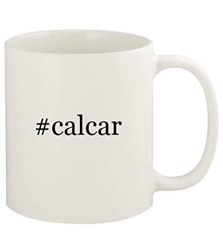 #calcar - 11oz Hashtag Ceramic White Coffee Mug Cup, White ()