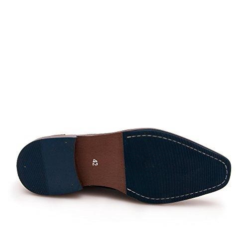 Zerimar Botín de Piel Para Hombre Zapato Elegante Para Hombre Marron