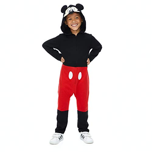 Disney Mickey Mouse Toddler Boys' Zip-Up Hooded Costume Coverall
