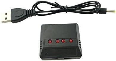 YNSHOU Accessoires de Jouets Chargeur USB 4 en 1 pour Syma X5 X5C X5SC X5SW MJX X705C RC UAV quadrirotor pi/èces de Batterie de Rechange 4 pi/èces 3.7 V 650 mAh Batterie