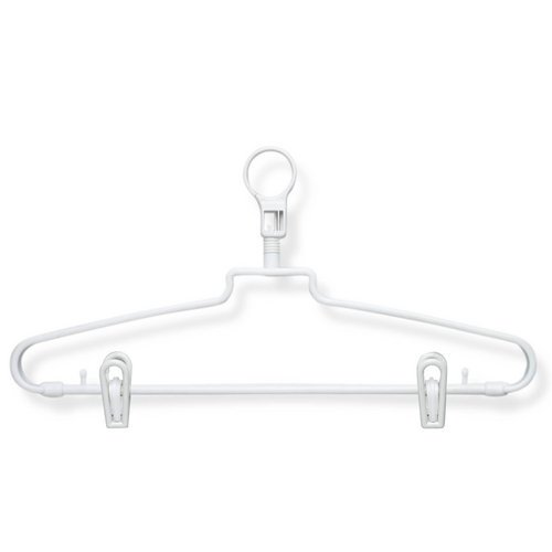 Honey-Can-Do Hotel Hangers with Security Loop with Clips (72 Pack)