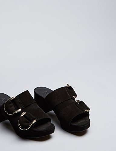Placere Plateau Sandal Damer I Læder Med Sort Blok Hæl joz0BZkAx