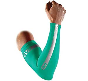 Mcdavid 6566Rfr Reflective Compression Arm Sleeves Pair - Teal, S, Small