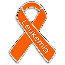 Leukemia Awareness Orange Ribbon Pins in Bag (25 Pins - Wholesale)