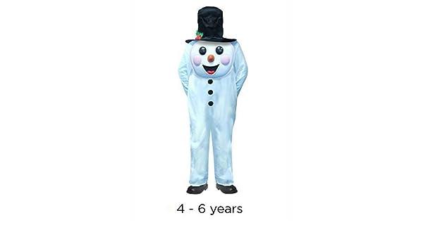 infantil Jumbo Navidad Muñeco De Nieve Disfraz 4-6 años: Amazon.es ...