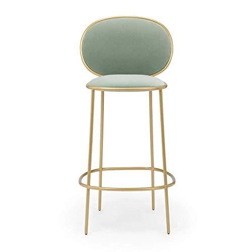 ROLLEDC Modern Industrial Metal Barstool with Bucket Back and 4 Leg Design, Seat Bar Stools, Modern Scandinavian Style (Color : D)