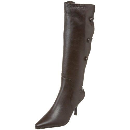 Tall Women's Callista Chocolate Boot Calf Button Sanzia vf7TSWqT