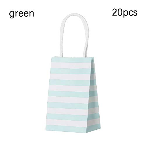 jumpeasy 5/10/20PCS Hot Wedding Supplies Birthday Party Cross Stripe Gift Wrapping Packing Carrier Handbag Black Paper Bags(20PCS,green)