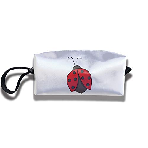 Cosmetic Bags With Zipper Makeup Bag Ladybug Wing Middle Wallet Hangbag Wristlet Holder]()
