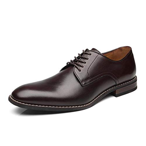 La Milano Men Dress Shoes Lace-up Leather Oxford Classic Modern Formal Business Comfortable Dress Shoes for Men