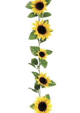 6' Sunflower Garland in Yellow