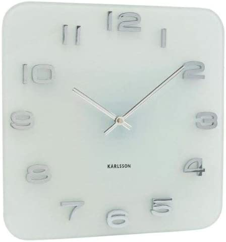 Present Time Karlsson Wall Clock Vintage Glass, White