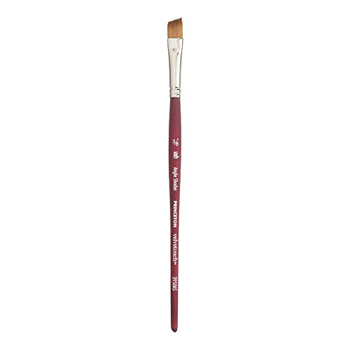Princeton Velvetouch Artiste, Mixed-Media Brush for Acrylic, Watercolor & Oil, Series 3950 Angle Shader Luxury Synthetic, Size 3/8 inch
