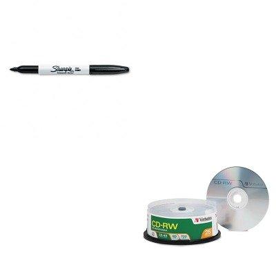 KITSAN30001VER95169 - Value Kit - Verbatim CD-RW Discs (VER95169) and Sharpie Permanent Marker (SAN30001)