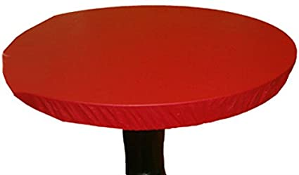 Kwik-Cover 48PK-M 42-48 Round  Kwik-Cover-Maroon Fitted Table Cover 1 full case of 50
