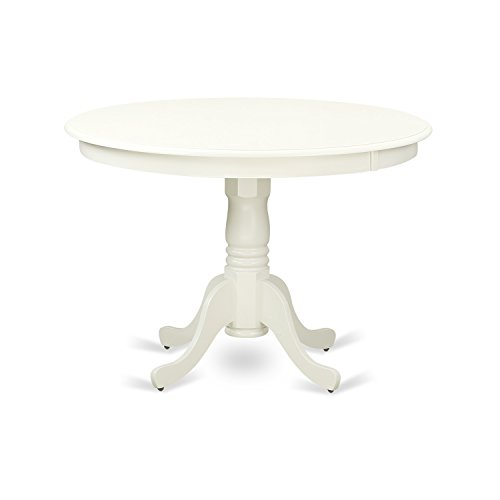 "East West Furniture HLT-LWH-TP Hartland Table 42"" Diameter Round Table Finish, Linen White"