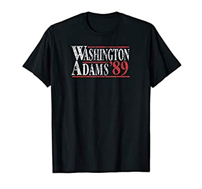 Washington Adams 89 Patriotic Retro Vintage Distressed Shirt