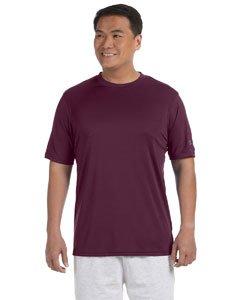 Champion Men's Short-Sleeve Double Dry Performance T-Shirt, Maroon, XL