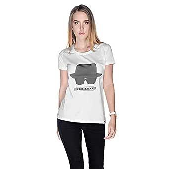 Creo Beach Hat Glasses T-Shirt For Women - S, White