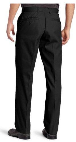 Dickies Men's Flat Front Pant, Black, 30X34