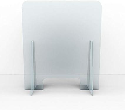 Mampara de PVC para Mostrador | Transparente | con Ventana | Pantalla protectora | Separación y protección de mesas | Comercios Oficinas Bares Farmacias Estancos | 50x70 cm: Amazon.es: Oficina y papelería