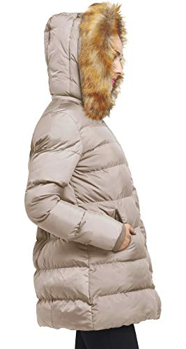 Amovible Femme Capuche Cachi Doudoune Amovible Coton En Fourrure Wenven En 6g7nIqx