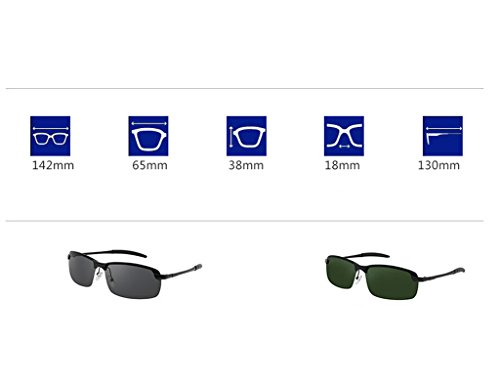 Lunettes Lenses UV Anti Dark Green Soleil de Lunettes Lenses Soleil Hommes Dark Polarized de Drive Mouvement Lunettes Couleur Eye Gray qztxva