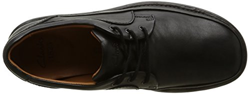 Clarks - Butleigh Edge, Scarpe Stringate Uomo, Nero (Black Leather), UK7