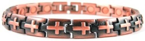 ProExl Magnetic Copper Cross Christian Bracelet with Box