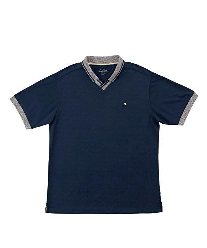 休眠不幸意欲アーノルドパーマー メンズ ゴルフ ポロシャツ 半袖 メランジ衿スキッパー半袖シャツ AP220101H02 NV/RD M