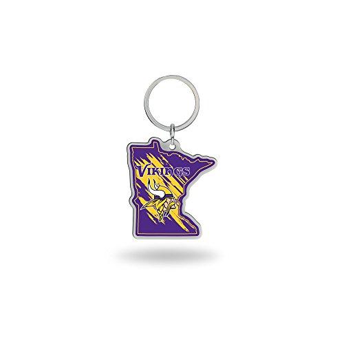 Rico Industries NFL Minnesota Vikings State Shape Keychain ()