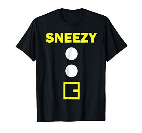 Sneezy Halloween Dwarf Matching Group Costume Gift T Shirt -