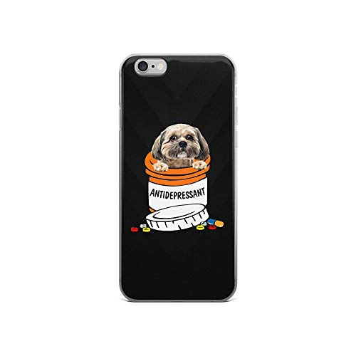 iPhone 6/6s Pure Clear Case Cases Cover Antidepressant Funny Cute Dog TPU Anti Slip Edge Compatible (Funny Pigs Medicine Cartoons)