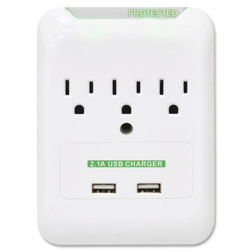 Compucessory 3-Outlet 2-Usb Surge Protector by Compucessory (Image #1)