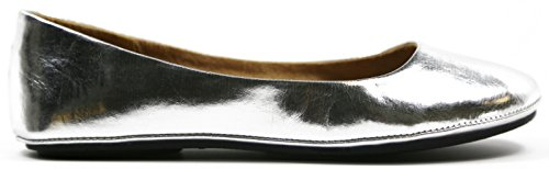 Ballerine Da Donna Ballerine Pantofole Casual Slip On Shoes Max Donna Argento * Max