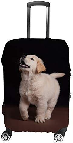 スーツケースカバー 子犬柄 伸縮素材 キャリーバッグ お荷物カバ 保護 傷や汚れから守る ジッパー 水洗える 旅行 出張 S/M/L/XLサイズ