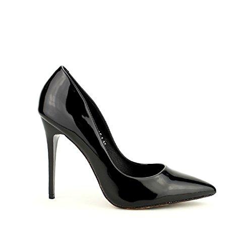 Femme Cendriyon Lux Noir Léopard Escarpin Lex Chaussures Verni xnqwfg7qTR