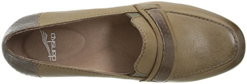 Taupe Lila Women's On Dansko Loafer Burnished Slip Nappa qXFwnAv4nx