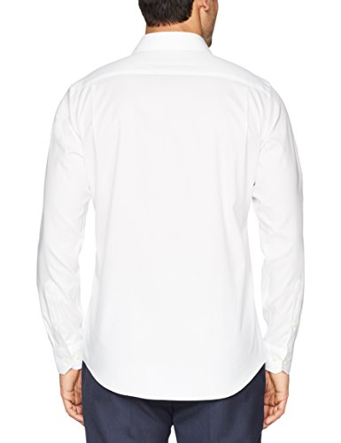 """BUTTONED Men's Tailored Fit Spread-Collar Solid Dress Shirt 16.5"""""""