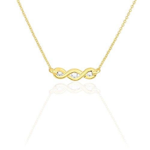 HISTOIRE D'OR - Collier Delfina Or Jaune Diamant - Femme - Or jaune 375/1000