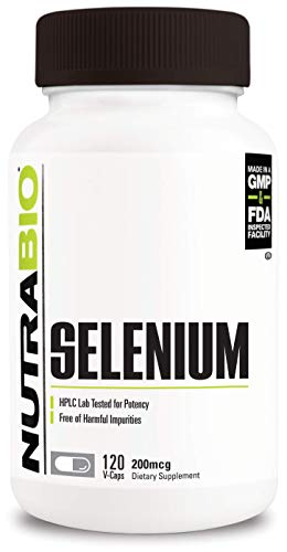 NutraBio Selenium (200 mcg) - 120 Vegetable Capsules
