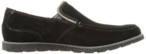 Hush Puppies Heren Lorens Nar Slip-on Loafer Zwart Suède