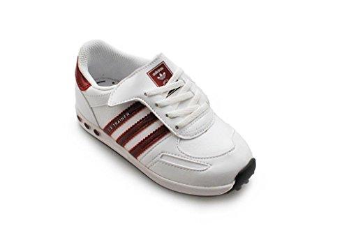 Adidas Infant 's–La Trainer CF I–Weiß Rot Schwarz