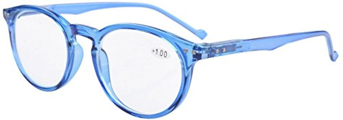 Eyekepper Oval Round Spring Hinges Eyeglasses Blue - Round Face Eyeglass For Shaped