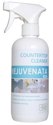 REJUVENATA Natural Stone and Hard Surface Countertop Cleaner Spray, Safe for Food Prep Areas, Water Based and PFOA PLOS-Free (16fl.oz)