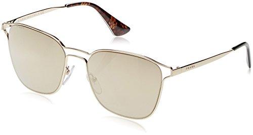 Prada Women's Double Bridge Mirrored Sunglasses, Pale Gold/Light Brown, One - Prada Mirrored Sunglasses